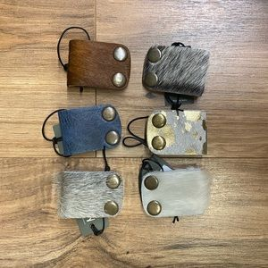 Grey NWT Cowhide Cable organizers- Grey
